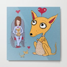hygge = a warm chihuahua / chihuahuas dog in your lap Metal Print