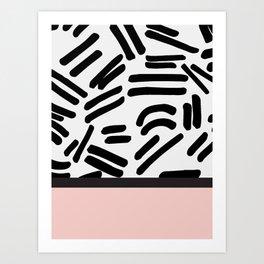 Patterned & Pink Art Print