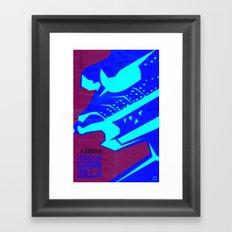 Mecha-terror! Framed Art Print