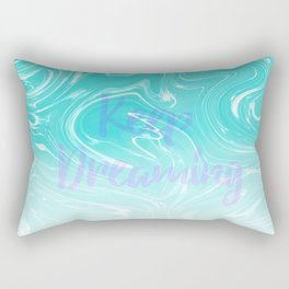 Keep Dreaming Typography on Liquid Marble Design Rectangular Pillow