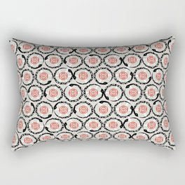 Asian Snake Pattern Rectangular Pillow