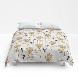 Hummingbird & Flower I Comforters