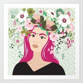 Floral & Feminine - Graceful Art Print