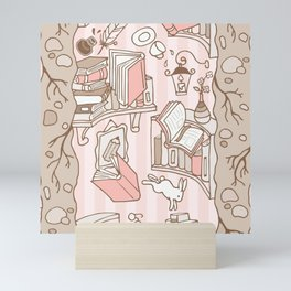 Books: Through the rabbit hole_Pink Cake Mini Art Print