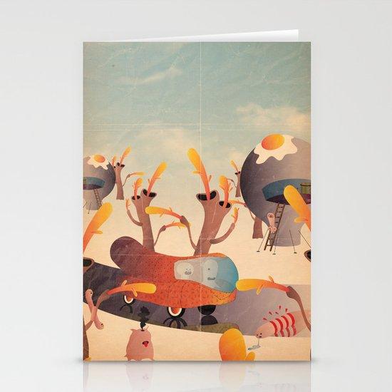 wurstel machine Stationery Cards