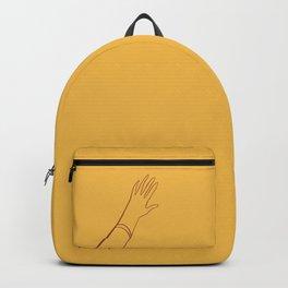 Yellow Hand Backpack