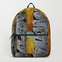 Impressionistic Colorado Aspen Trees Vertical Panorama -1  Backpack