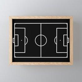 Soccer field / Football field in Black and White Framed Mini Art Print