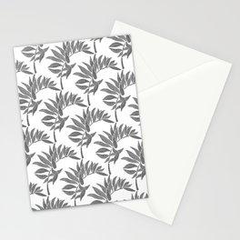 Tropical Leaf - Black Palette Stationery Cards