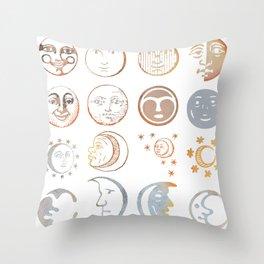 full moon ritual Throw Pillow