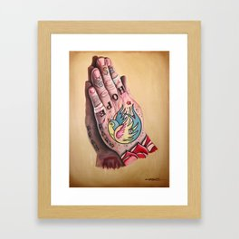 Busted Hands Framed Art Print
