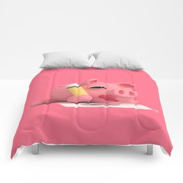 Rosa the Pig Drawing Comforters