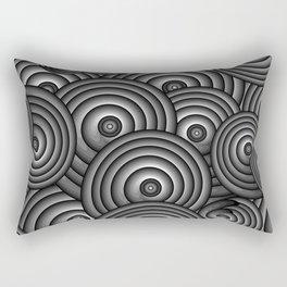 Charcoal Swirls Rectangular Pillow