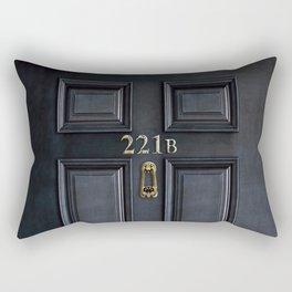 Haunted black door with 221b number Rectangular Pillow