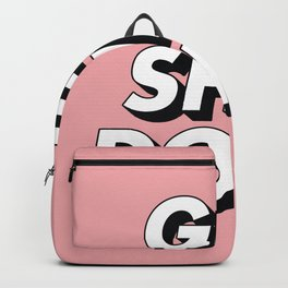 Get Shit Done black and white typography pink black and white motivational typography wall decor Backpack