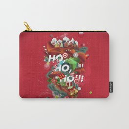 Merry Xmas Red Carry-All Pouch