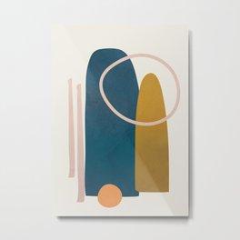 Minimal Abstract Shapes No.45 Metal Print