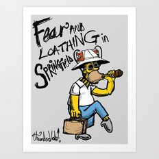 Fear and Loathing in Springfield Art Print