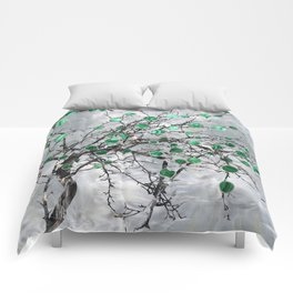 Abstract Gemstone and  Malachite Tree Comforters