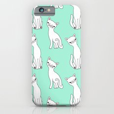Mint and white retro cats Slim Case iPhone 6s