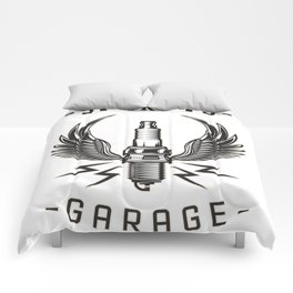car retro garage tee Comforters