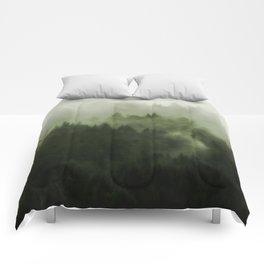 Drift - Green Mountain Forest Comforters