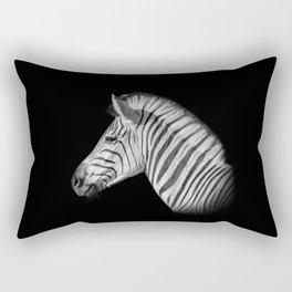 Monochrome Zebra Portrait Rectangular Pillow