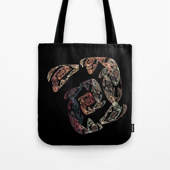 Golden Spiral Tote Bag