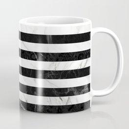 Marble Stripes Pattern - Black and White Coffee Mug