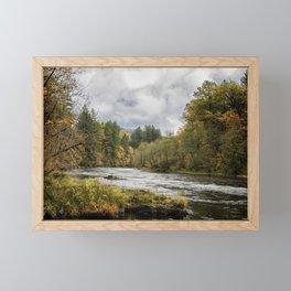 Fall on the McKenzie River Framed Mini Art Print