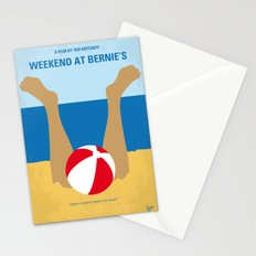 No765 My Weekend at Bernies minimal movie poster Stationery Cards