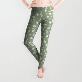 Green Cactus Print Leggings