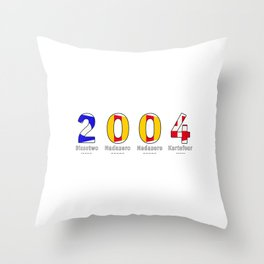 2004 - NAVY - My Year of Birth Throw Pillow