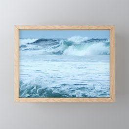 Rolling Green Surf Framed Mini Art Print