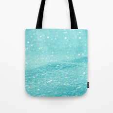 Glitter Turquoise Tote Bag