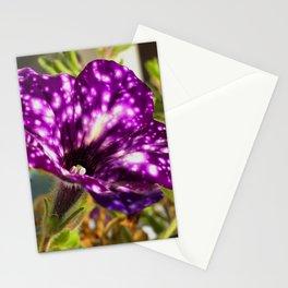 Unic ultra violet petunia flower night sky Stationery Cards