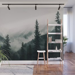 Over the Mountains and trough the Woods -  Forest Nature Photography Wall Mural