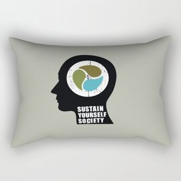 sustain yourself society Rectangular Pillow