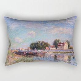 The Canal at Saint-Mammes Rectangular Pillow