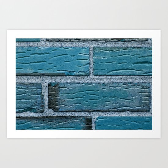 Blue Brick Art Print