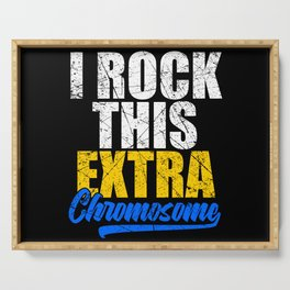 Rock This Extra Chromosome Down Syndrome Serving Tray