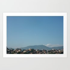 Kathmandu Valley  Art Print