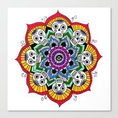 mandalavera de colores Canvas Print
