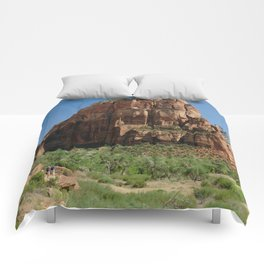 Hiking Zion National park in Utah, USA Comforters