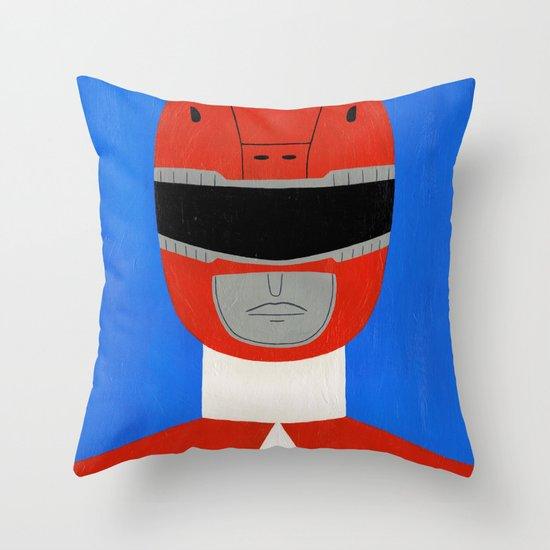Red Ranger Throw Pillow