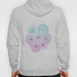 Equanimity / Flowers / Pink Blue Hoody