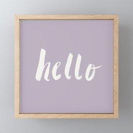 Hello x Lavender Script Framed Mini Art Print