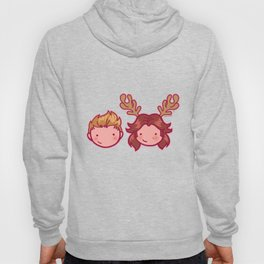Moose and Squirrel Bros pattern Hoody