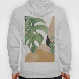 Abstract Art Tropical Leaves 3 Hoody