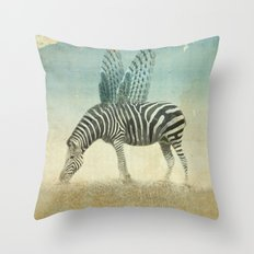on the wings Throw Pillow